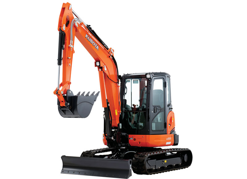 Kubota U55-4W1 Excavator 5.5 Ton