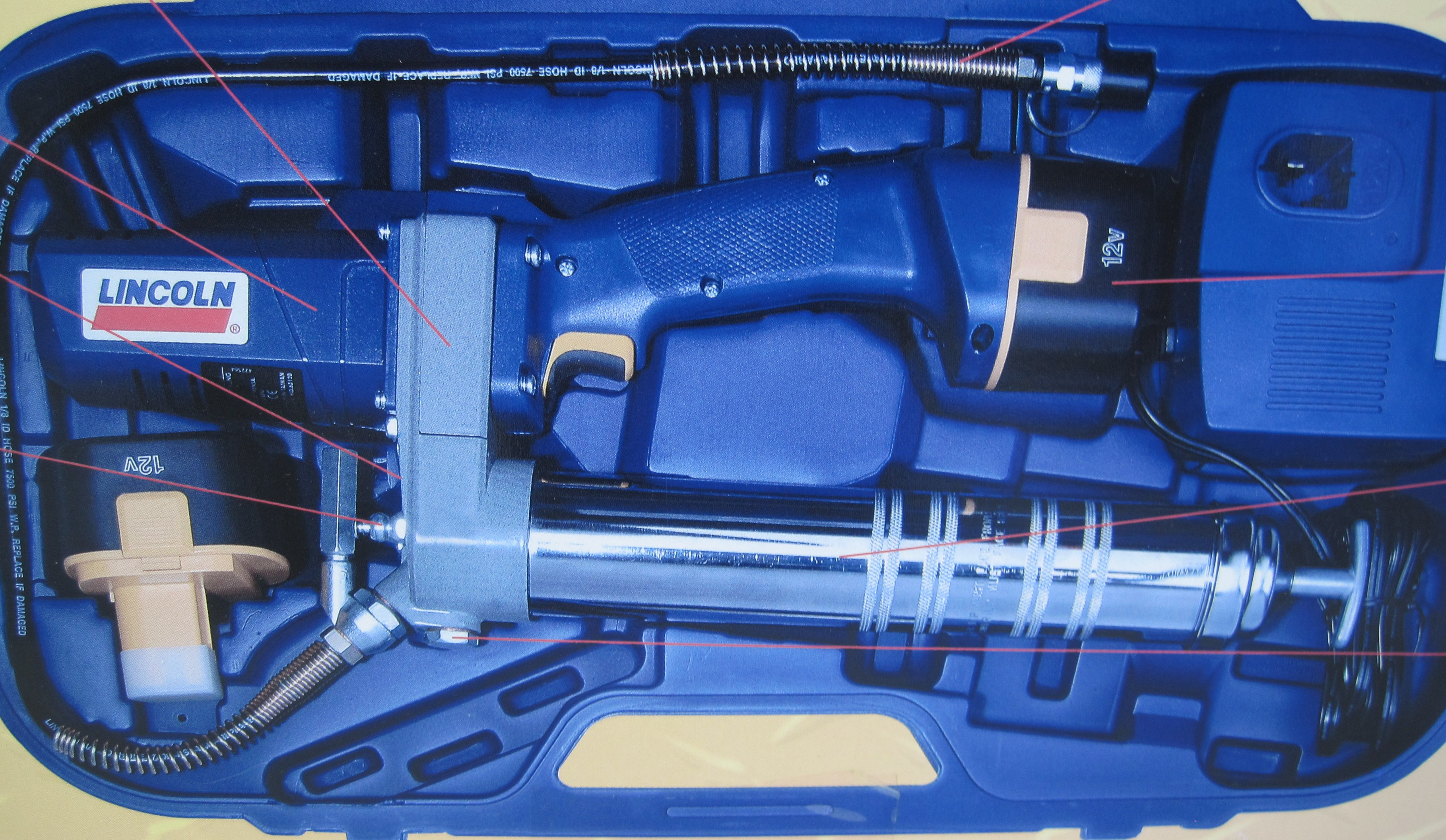 Lincoln 12-volt Cordless Rechargeable Grease Gun