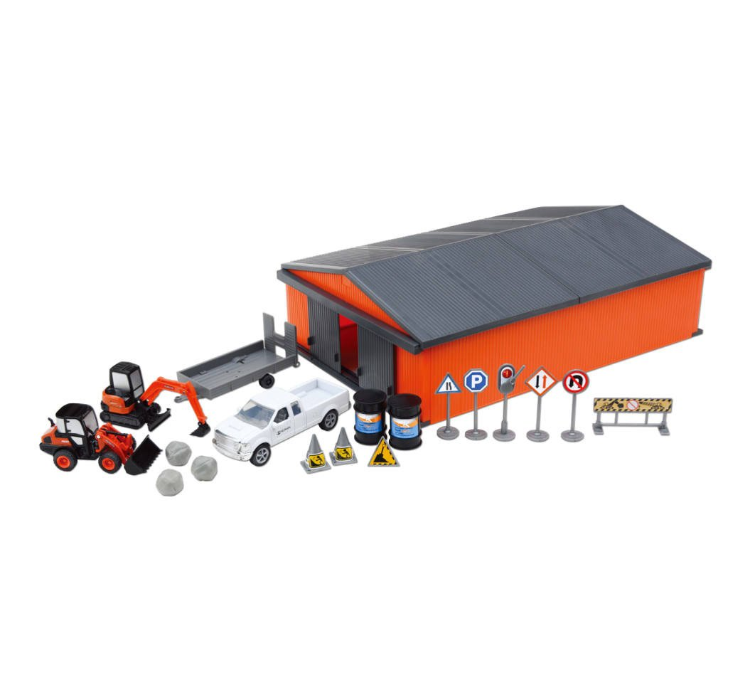 Kubota Farm Set with Pick-up Truck, Animals & Shed
