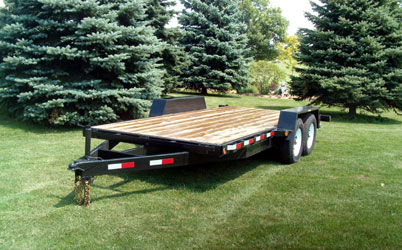 "All Purpose Tandem Trailer (6'8"" W x 12' L) Model AP 12000 8012 by JDJ"
