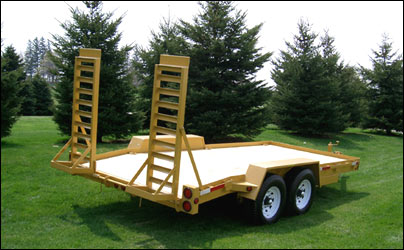 "Equipment Float with Fenders Tandem Trailer (6'8"" W x 14' L) Model BC 12000-14 by JDJ"