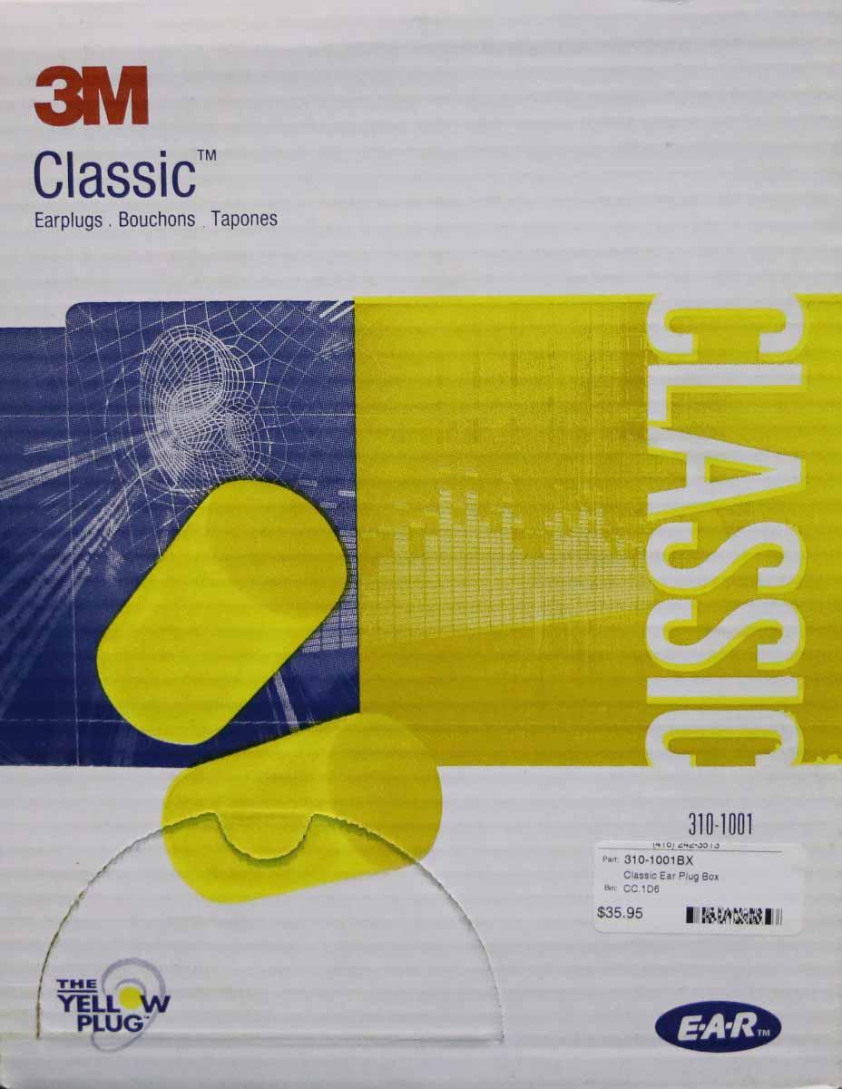 3M Classic Single-Use EAR plugs Box