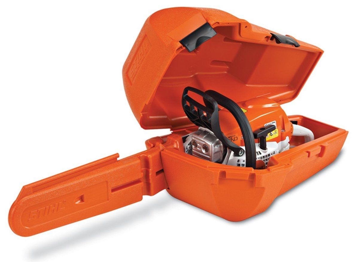 STIHL Woodsman Chainsaw Carrying Case - shown open with saw.