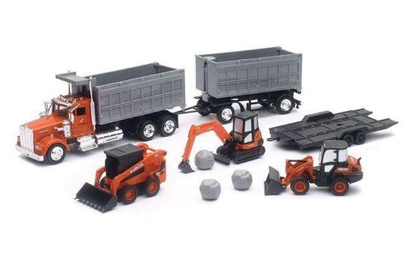 Kubota Construction Equipment & Dump Truck Playset