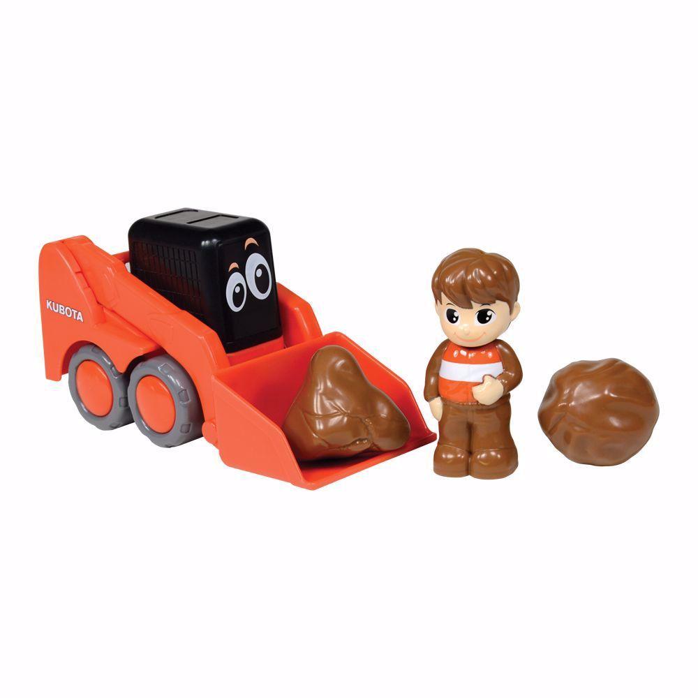 Kubota My Lil' Orange SSV Skid Steer w/ Figure & Boulders Set