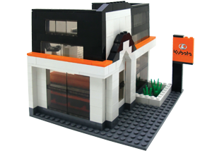 Kubota Building Block Dealership Set