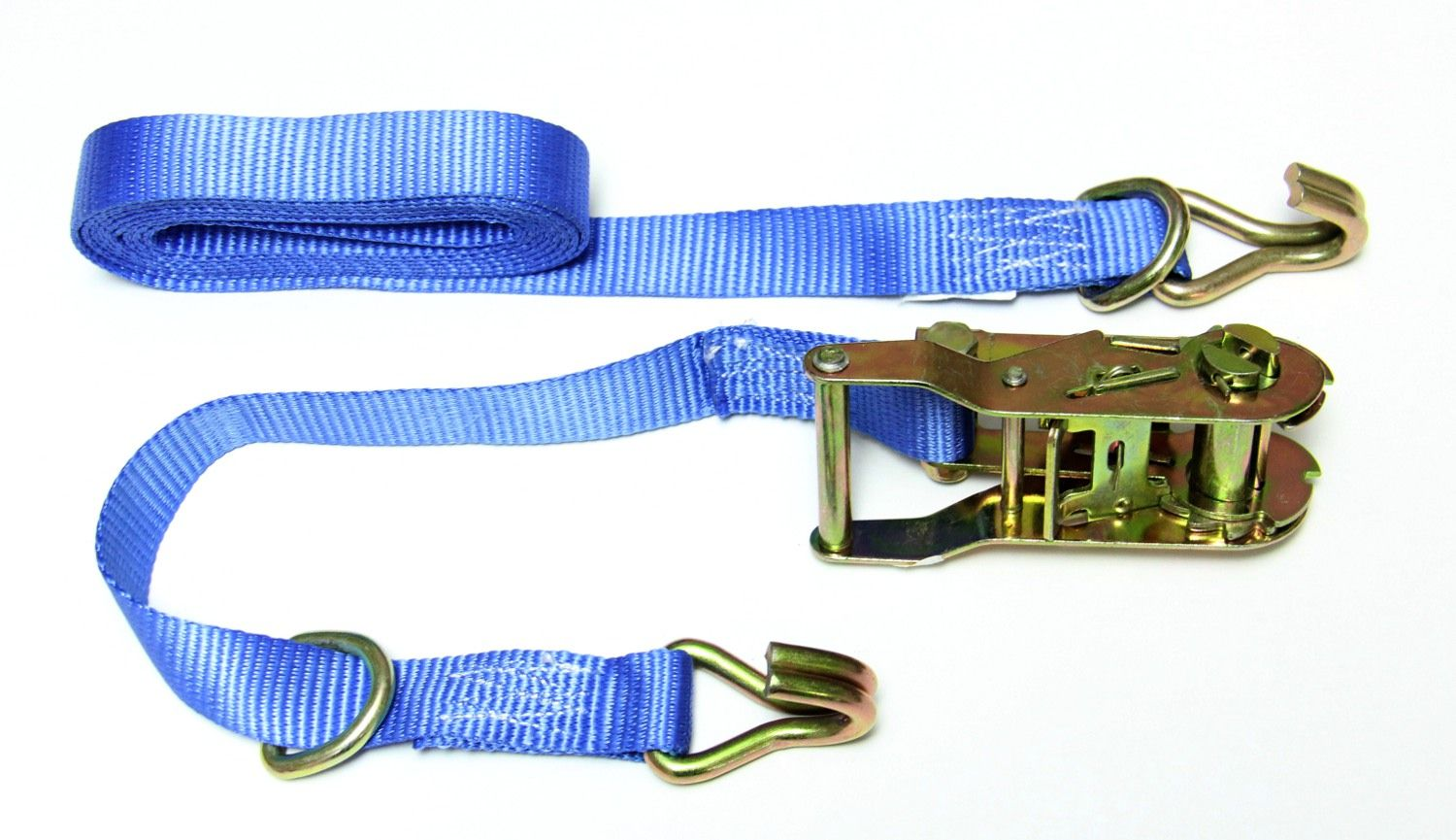 Blue ratchet strap (tie down strap)