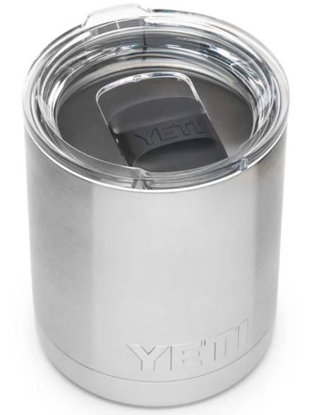 YETI 70000000874 Stainless Steel 10z Lowball with Magslider Lid