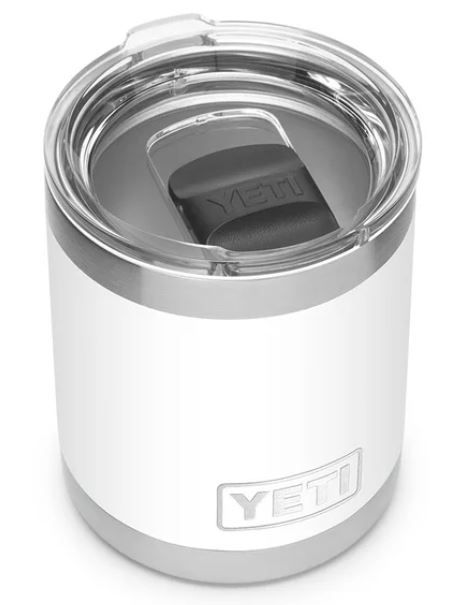 YETI 70000000875 White 10z Lowball with Magslider Lid