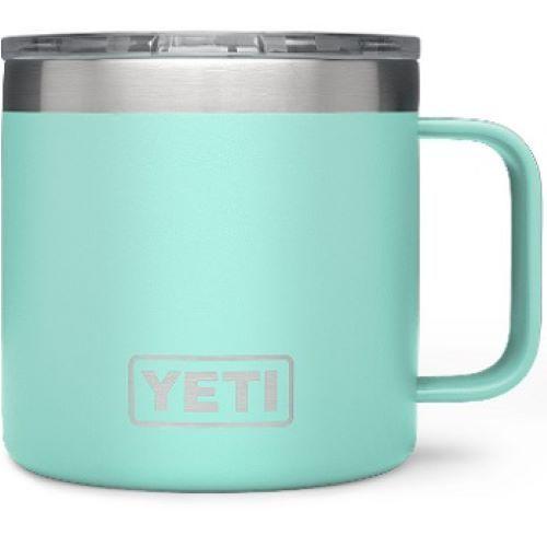 Seafoam YETI 14oz Rambler Mug with Standard Lid