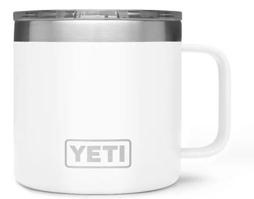 White YETI 14oz Rambler Mug with Standard Lid