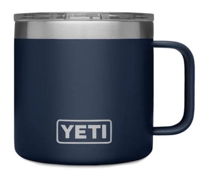 Navy YETI 14oz Rambler Mug with Standard Lid