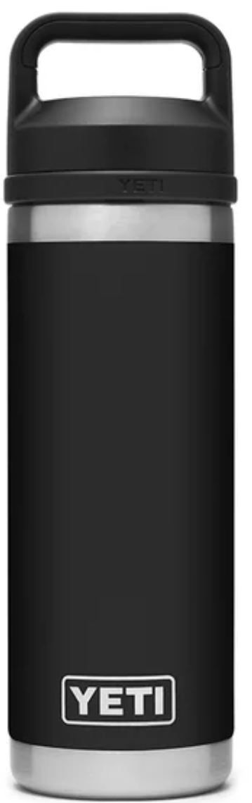 Black YETI Rambler 18oz Bottle with Chug Cap