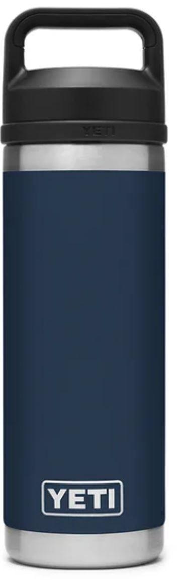 Navy YETI Rambler 18oz Bottle with Chug Cap