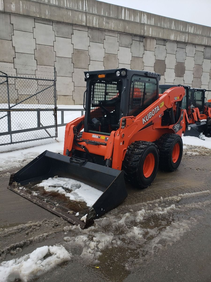 Used 2017 Kubota SSV75P With Snowex Blade