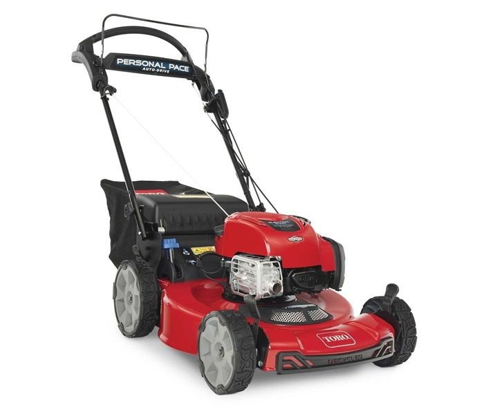 Toro Recycler Mower - 22 inch deck, Self Propelled, Electric Start, Rear Wheel Drive and High Back Wheels. Model 21464