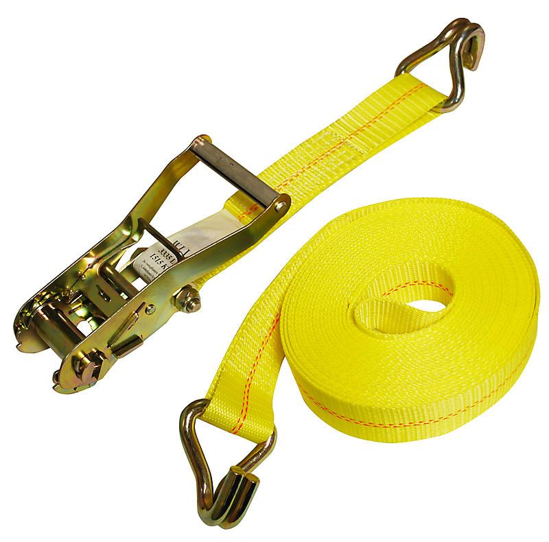"Yellow Short Ratchet Strap 2""w x 10'l"