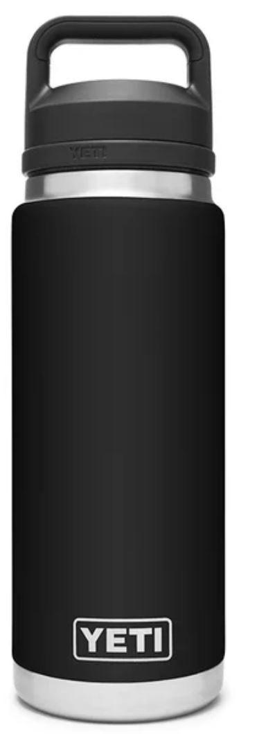 Black YETI Rambler 26oz Bottle with Chug Cap