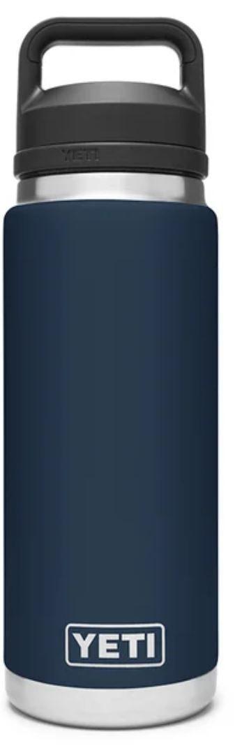 Navy YETI Rambler 26oz Bottle with Chug Cap
