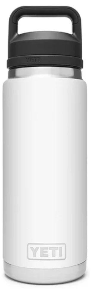 White YETI Rambler 26oz Bottle with Chug Cap