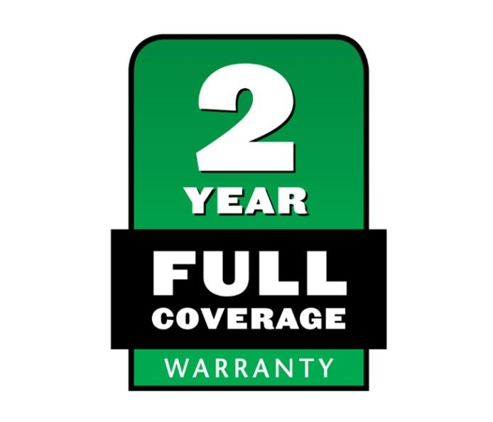 This product is covered by a 2 year warranty. See in store for more details.