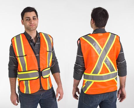 Orange 5-Point Tear-Away Safety Vest