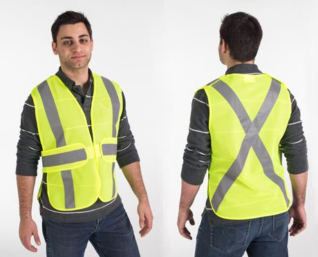 Green 5-Point Tear-Away Safety Vest