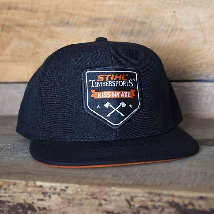 STIHL Flat Brim Hat with KISS MY AXE logo