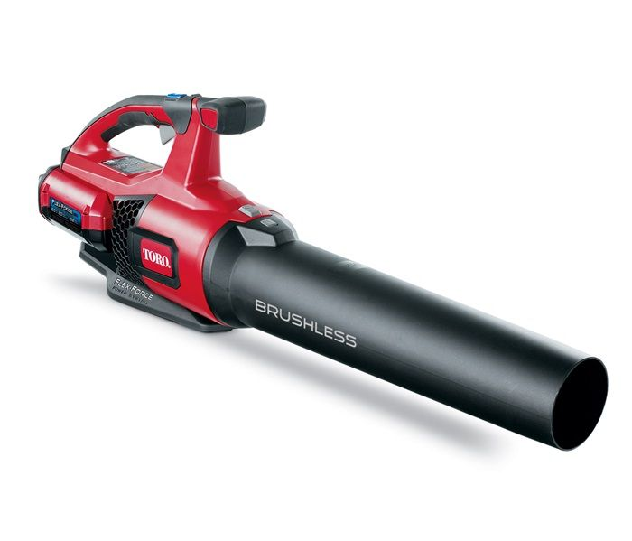 Toro 51820 Handheld Blower Unit showing with the battery attached