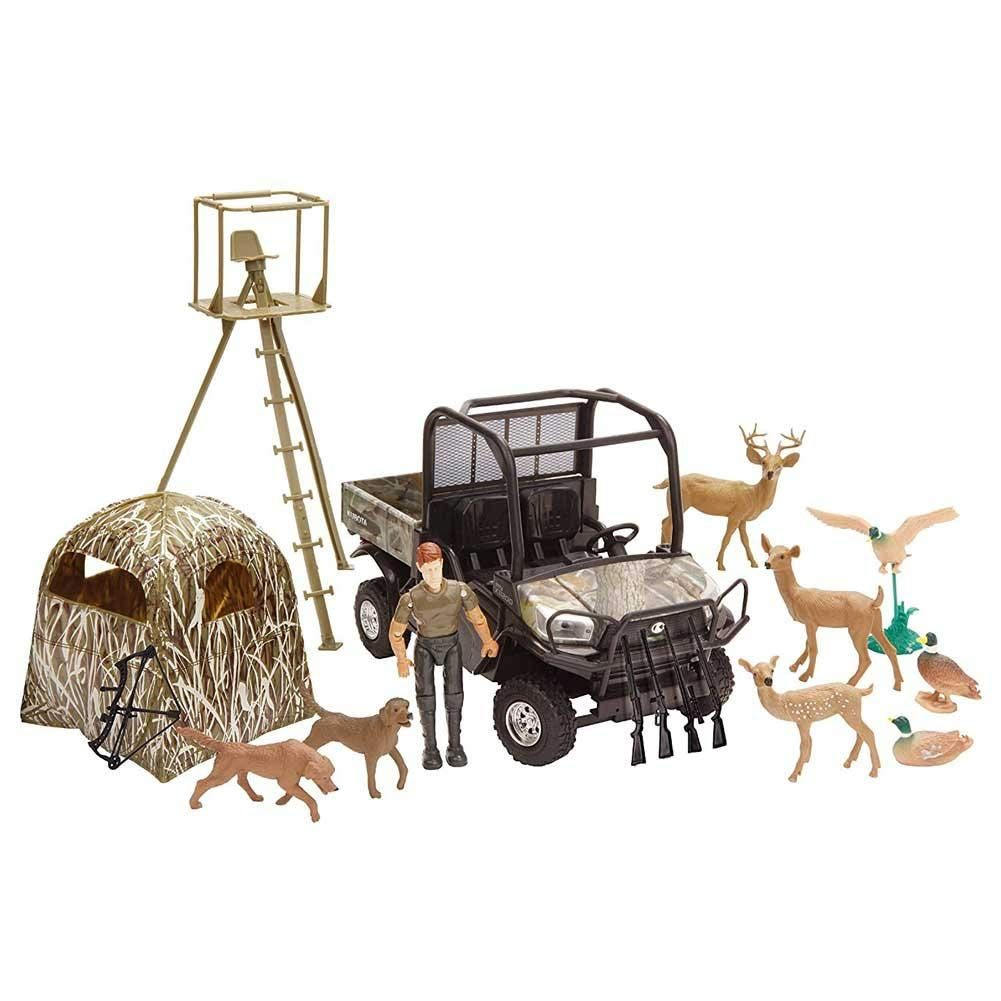 KUBOTA RTV-X1120D HUNTING TOY SET 1:18 SCALE
