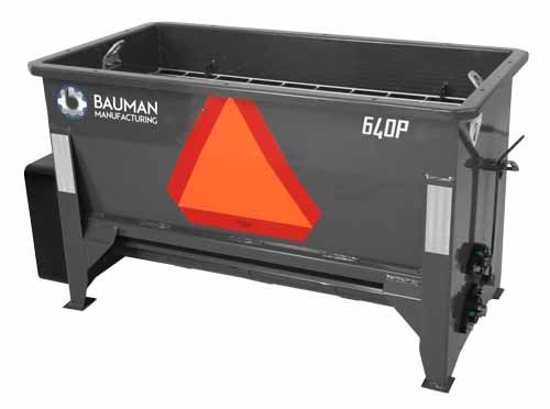 Bauman 640H Hydraulic Driven Sidewalk Drop Spreader
