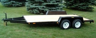 "JDJ All Purpose Tandem Trailer (6'8"" W x 16' L) Model AP 7000 8016"