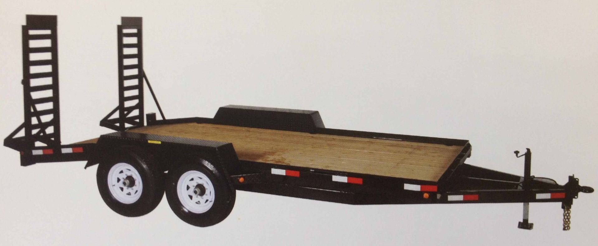 "JDJ Equipment Float with Fenders Tandem Trailer (6'8"" W x 18' L) Model BC 12000-18"