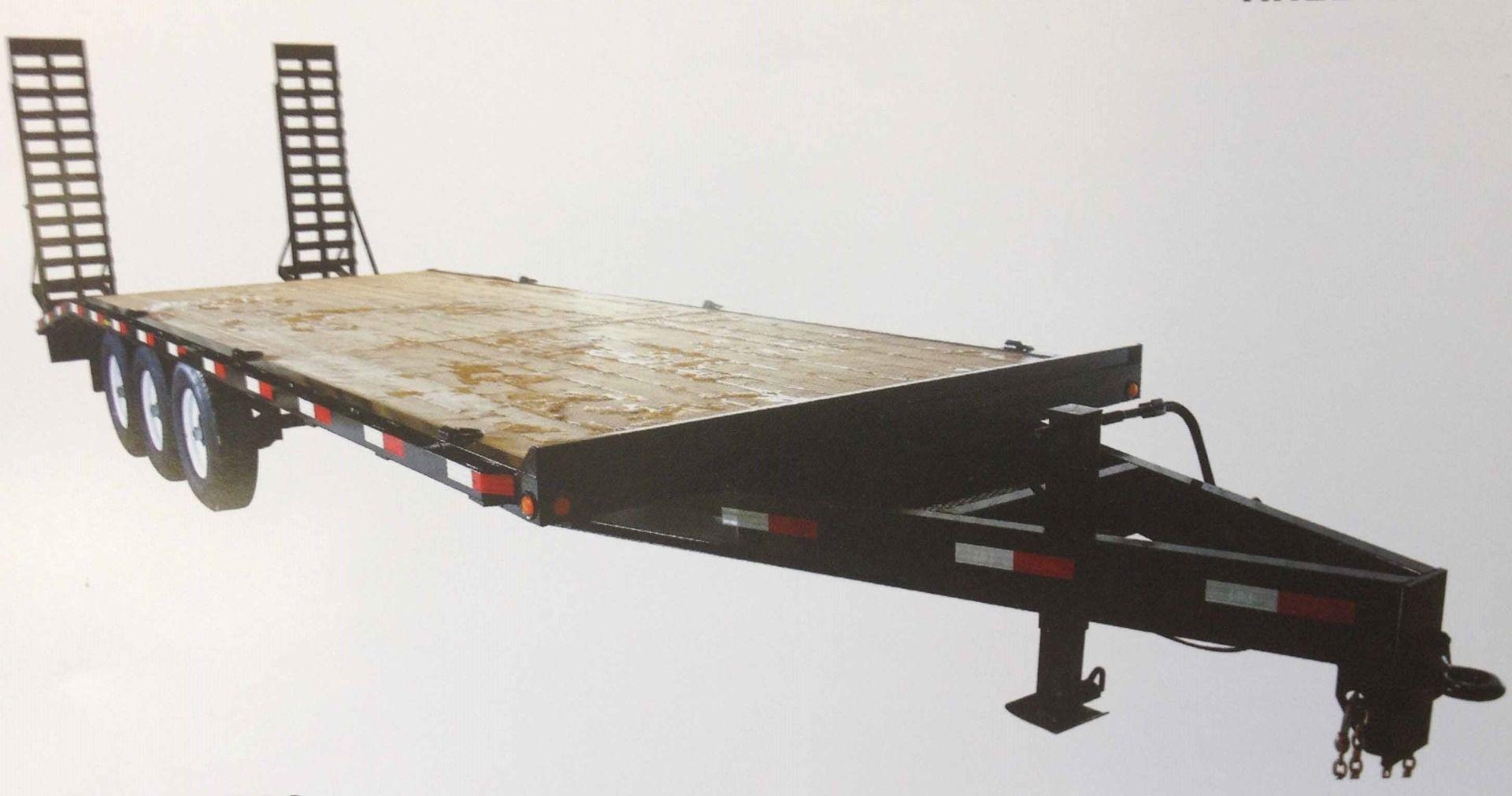 """JDJ Equipment Float with Fenders Tri Axle Trailer (6'8"""" W x 20' L) Model BC 21000-20"""