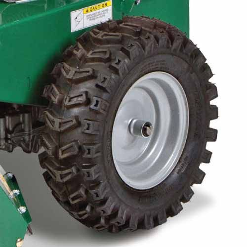 Wider tractor tires for better traction and pulling power.