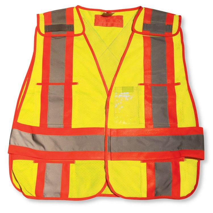 Lime Green Soft Mesh Safety Vest