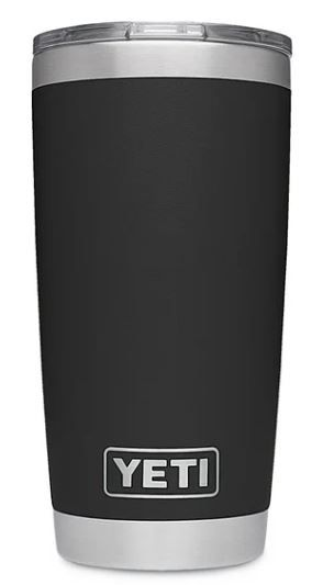 Black YETI Rambler 20oz Tumbler with MagSlider Lid