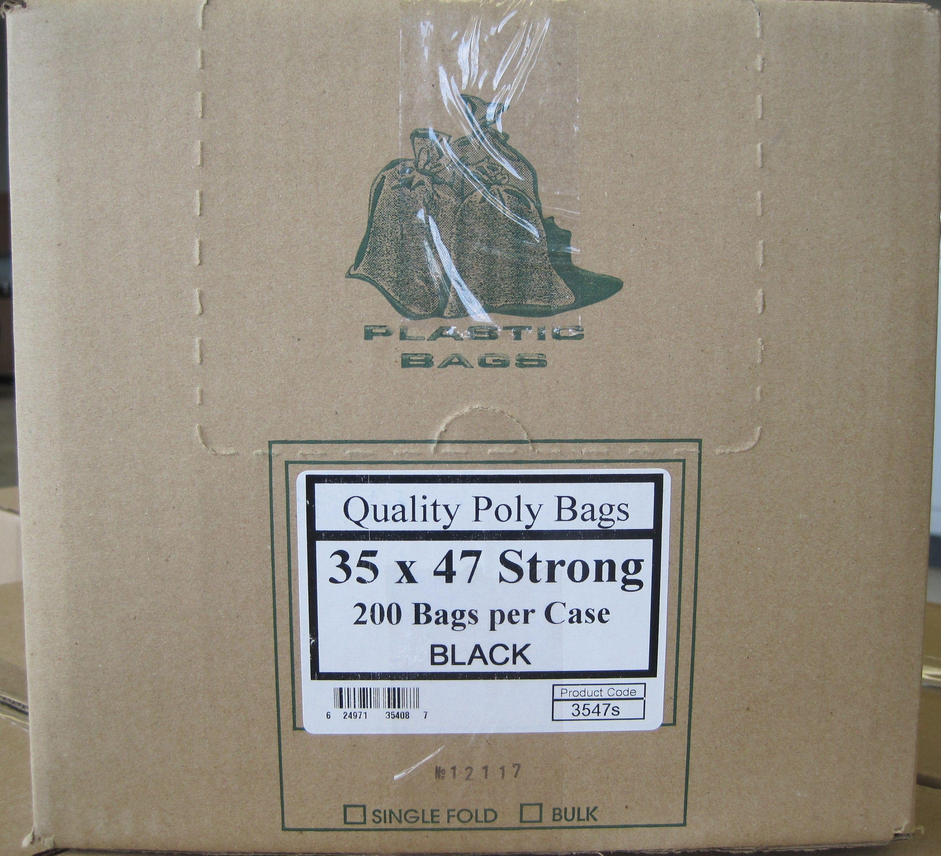 black plastic garbage bags 35x47