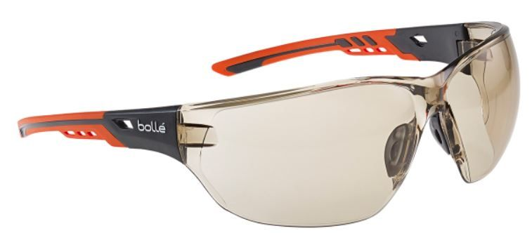 Bolle Safety Glasses anti-fog with ultra wrap-around frame for perfect protection.
