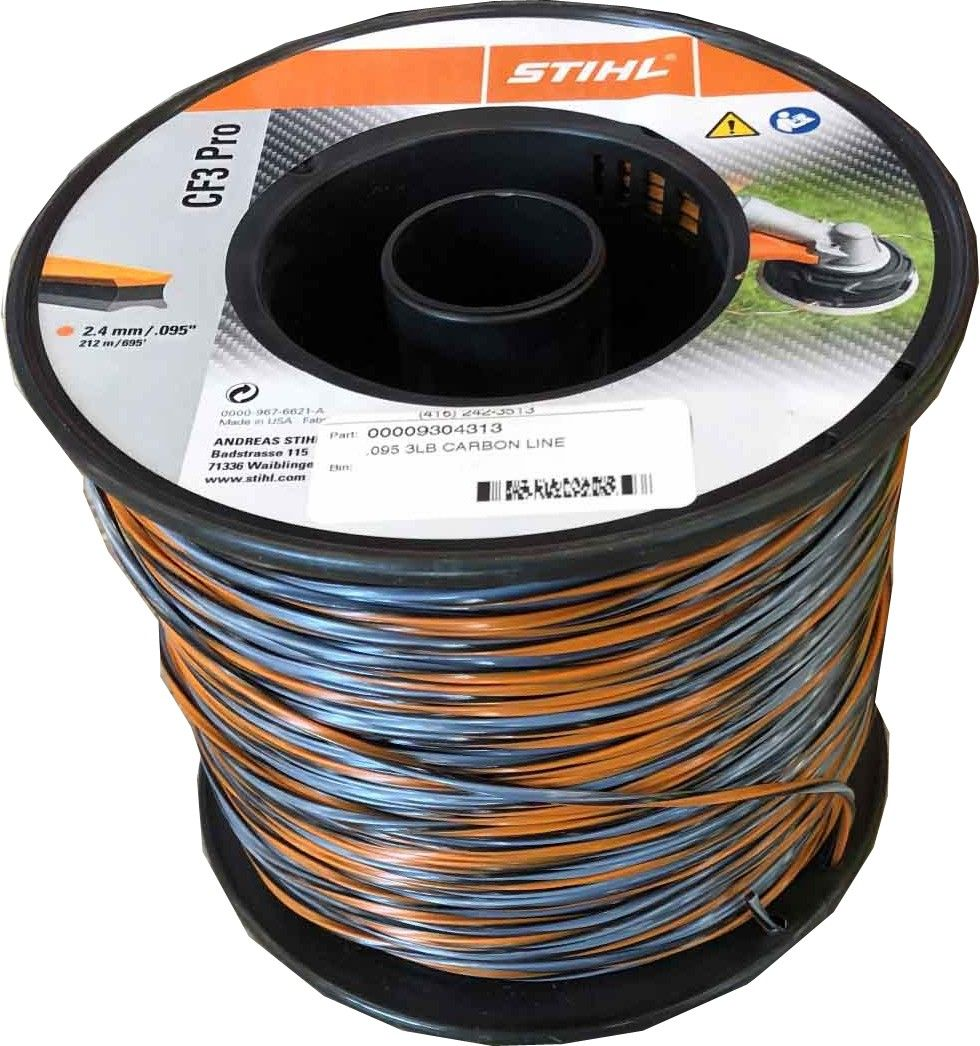Stihl .095 Carbon Trimmer Line 3lb roll