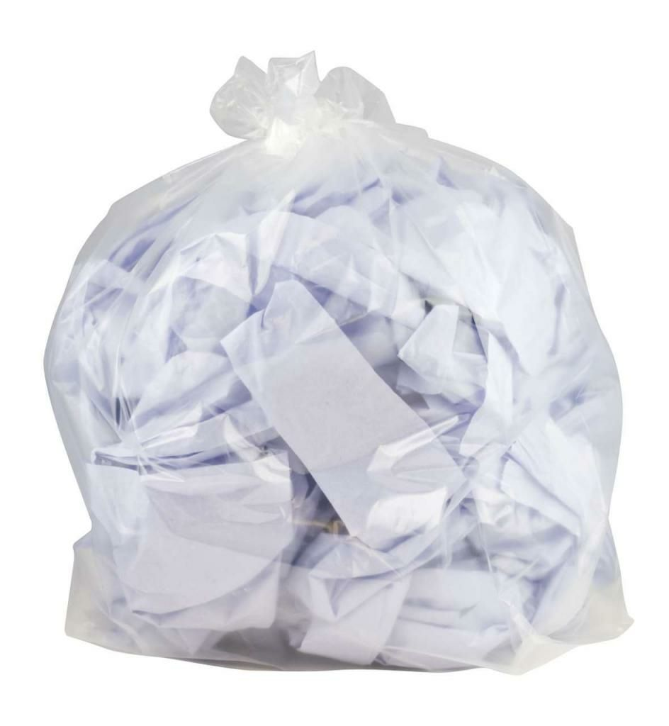 "Clear Plastic Garbage Bags 35""x47"""