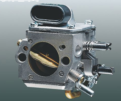 This controller in the carburettor prevents the fuel-air mixture getting richer as the air filter becomes clogged