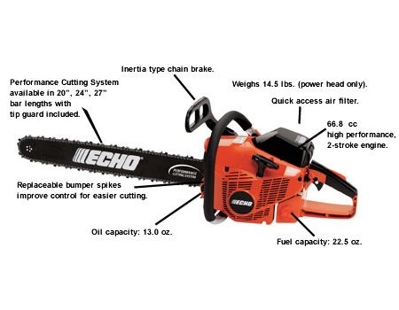 CS-680 Professional chainsaw from ECHO