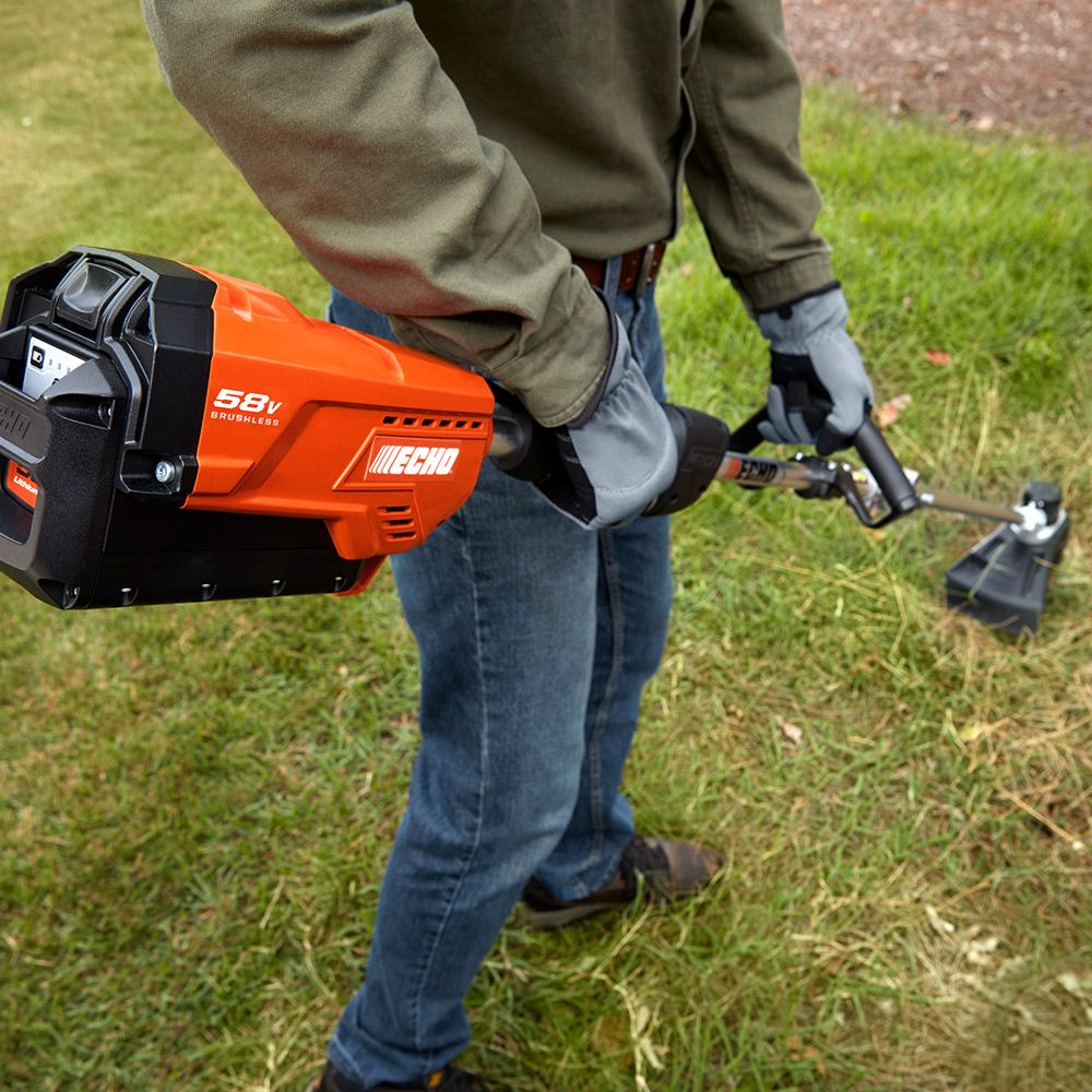 ECHO 58V Dedicated Trimmer with 2AH Battery & Charger in action