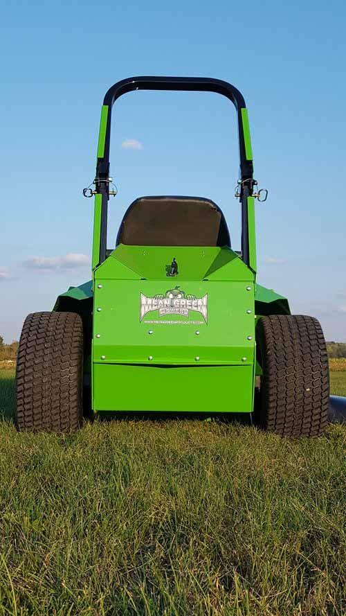 Back of the Mean Green CXR-60 Zero Turn