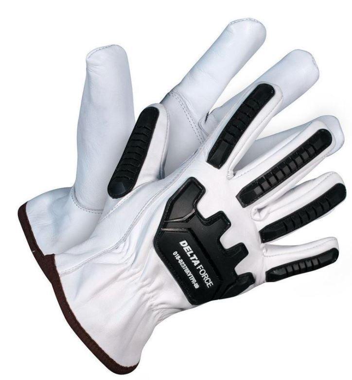 Delta Force Anti-Impact Goatskin Grain Leather Kevlar® Lined Gloves