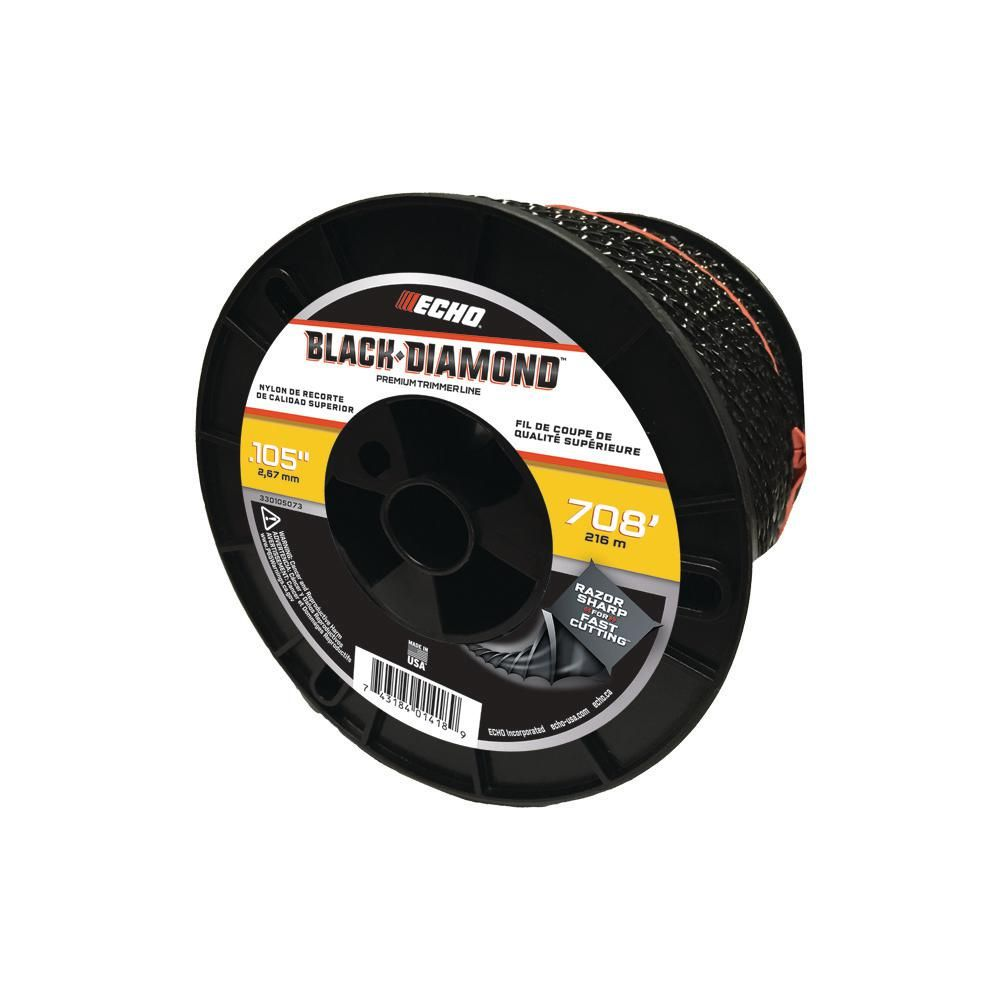 ECHO .105 Black Diamond Trimmer Line 5lb Roll
