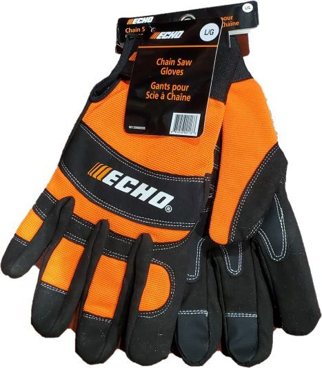 Echo chainsaw safety gloves