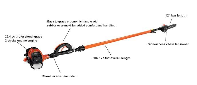 ECHO Pole Pruner PPT266 with specs