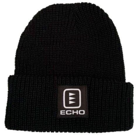 ECHO Black Waffle Knit Toque